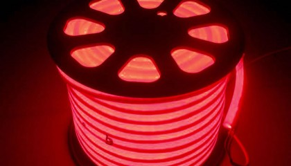 Led NEON Flex Rojo, 220V, 100Led/m, 1m